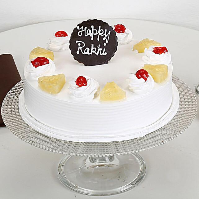 Rakhi and Pineapple Cake 2kg