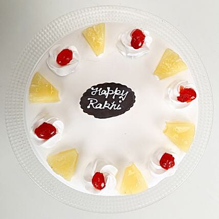 Rakhi and Pineapple Cake 2kg