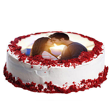Red Velvet Photo Cake 3kg Eggless
