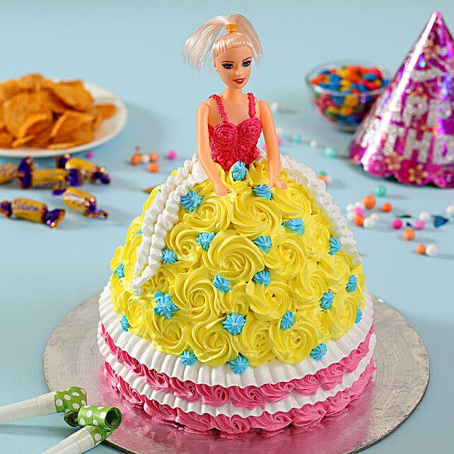 Rosy Barbie Cake Chocolate 2kg