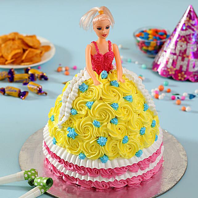Rosy Barbie Cake Truffle 3kg