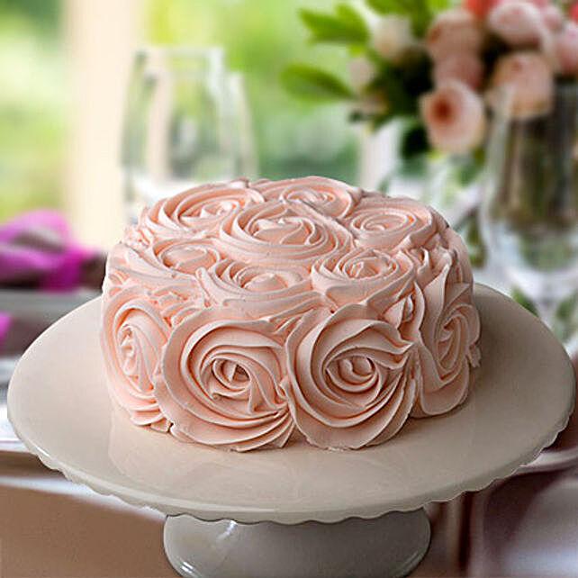 Rosy Pink Choco Cake Half Kg