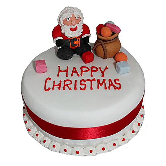 Santa Claus Christmas Cake 2kg Eggless