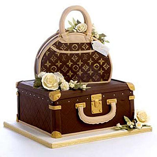Showy LV Bag Cake 4kg Eggless