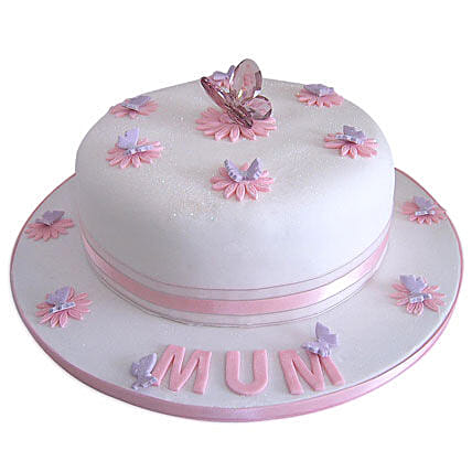 Simple and Sweet Love Mom Cake 3kg Eggless Black Forest