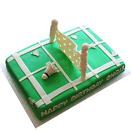 Smashing Badminton Court Cake 4Kg Eggless Chocolate