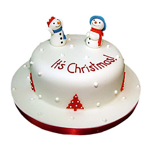 Snowman Christmas Cake 2kg Eggless
