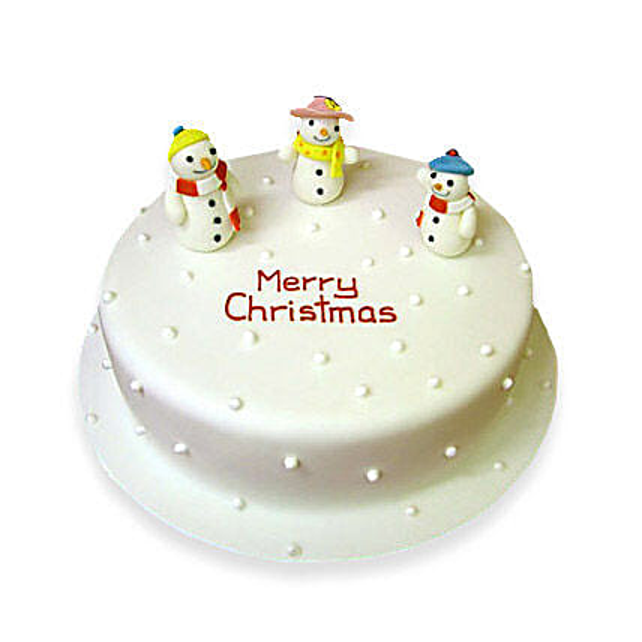 Snowy Christmas Cake 3kg Eggless