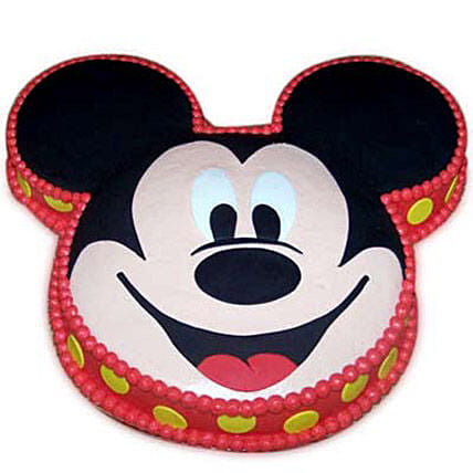 Soft Mickey Face Cake 3kg Vanilla Eggless