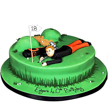 Stunning Golf Course Cake 2Kg Eggless Chocolate