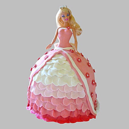 Style Queen Barbie Cake 2Kg Chocolate