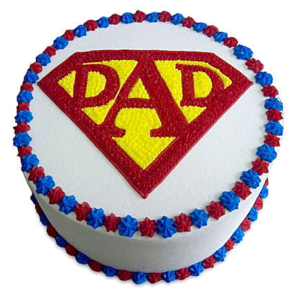 Super Cake For A Super Dad 2kg Vanilla Eggless
