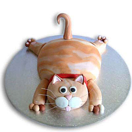 Tabby Cat Cake 2Kg Eggless Chocolate