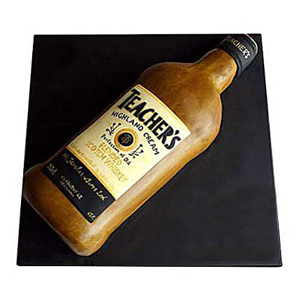 Teachers Scotch Whisky Cake 3kg Eggless