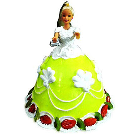The Lovely Barbie Cake 3kg Chocolate Eggless