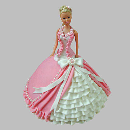 Ultra Style Queen Barbie Cake 2Kg Chocolate