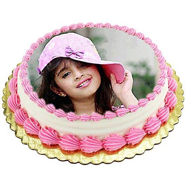 Vanilla Photo Cake3kg Eggless