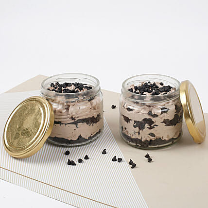 Vivacious Chocolate Jar Cake Eggless Set of 2