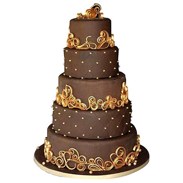 Wedding Celebrations Chocolate Cake 15kg Eggless
