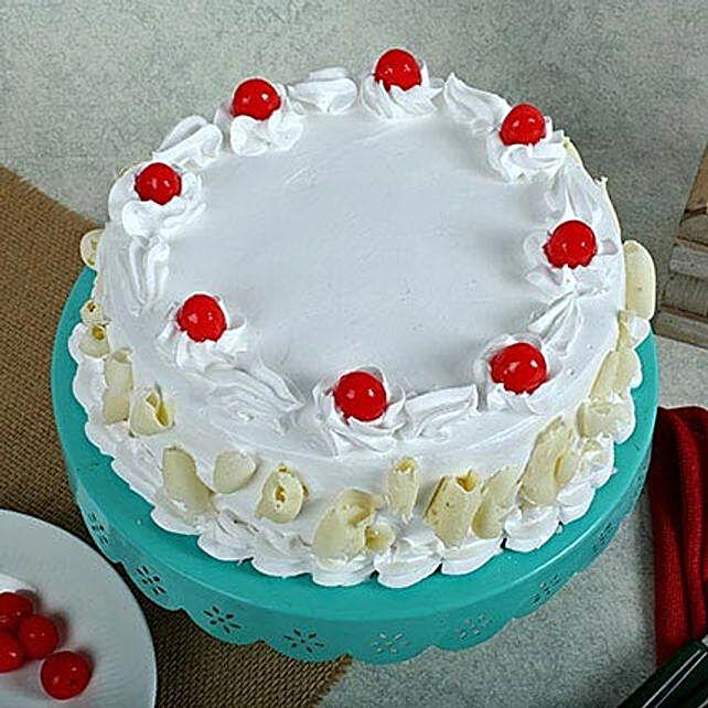 White Forest Cake 2kg Eggless