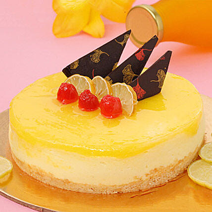 Zesty Lemon Cheesecake Half KG Eggless