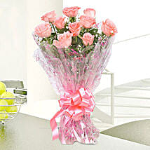 10 Charming Pink Roses Bouquet: Flowers for Parents Day