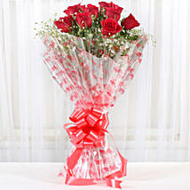 10 Red Roses Exotic Bouquet: Send Roses to Mumbai