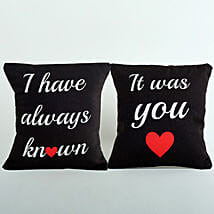 2 Printed Cushion Combo: Send Gifts to Talappilly