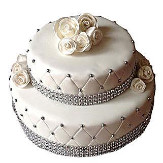 2 Tier Designer Fondant Cake: Premium Gifts