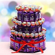 3 Tier Choco Pop Cake: Gifts for Girls