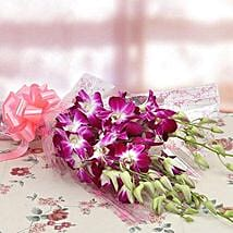 6 Royal Orchids Bunch: Flowers Bestsellers Birthday