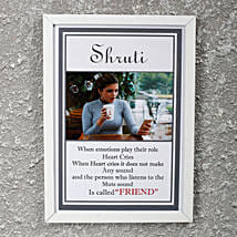 Adorable Personalized Friendship Day Frame: Friendship Day Personalised Photo Frames