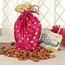 Almonds In Pink Potli: Send Bhai Dooj Gifts to Mangalore