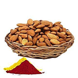 Almonds with Holi Colours: Send Holi Gifts to Mumbai