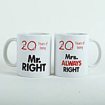 Always Right Couple Mugs White: Valentines Day Gifts to Dhanbad