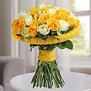 Amazing Yellow Roses Bunch: Premium Gifts
