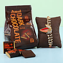 Amul Dark Minis Gable Top & Rakhi Combo: Set of 2 Rakhis