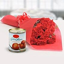 Appetizing Combo: Send Flowers & Sweets to Indore