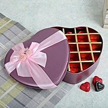 Assorted Chocolates Pink Heart Box: Gifts to Anantnag