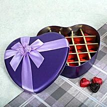Assorted Chocolates Purple Heart Box: Send Gifts to Ambedkar Nagar