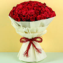 Authentic Love 100 Roses: Valentine Flowers Panchkula