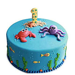 Baby Sea Animals Cake: Cartoon Cakes