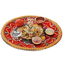 Bal Krishna With Puja Thali: Handicrafts for Him