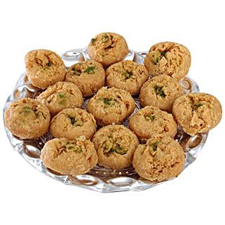 Balushahi In Silver Tray: Teej Gifts