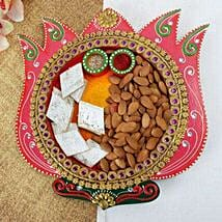 Barfi N Almonds Thali: Send Bhai Dooj Gifts to Ahmedabad