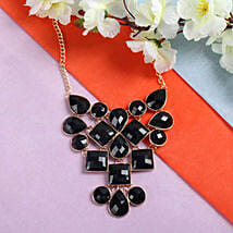 Beautiful Black Necklace: Send Rakhi to Ambernath