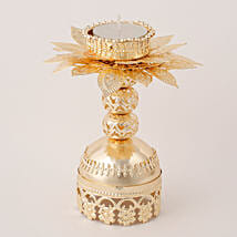 Beautiful Golden T Light Holder: Diwali Gifts to Delhi