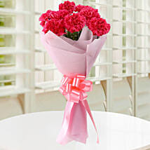 Beautiful Pink Carnations Bouquet: Anniversary Flowers Noida