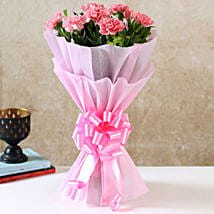 Beautiful Pink Carnations Bouquet: Mothers Day Gifts to Hyderabad