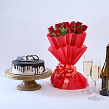Beautiful Red Rose Hamper: Pune anniversary gifts